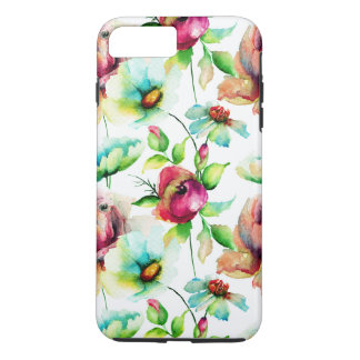Beautiful Watercolor Flowers Illustration iPhone 7 Plus Case