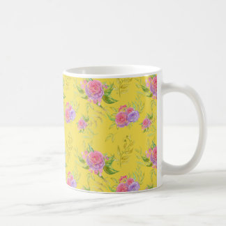 Beautiful Watercolor Png Flowers Pattern Coffee Mug