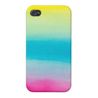 Beautiful Watercolor Rainbow iPhone 4 Covers