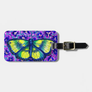 Beautiful Watercolour Butterfly Luggage Tag
