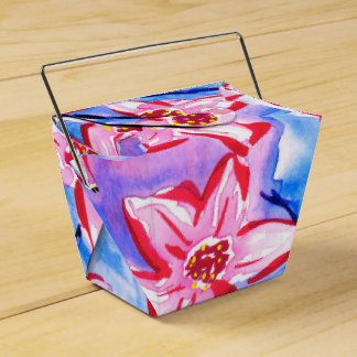 Beautiful Watercolour Floral Favour/Gift Box