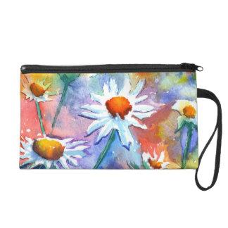 Beautiful Watercolour Floral Wristlet Purse Bag