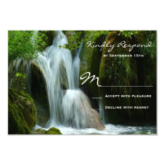 Beautiful Waterfall Nature Wedding RSVP Cards