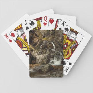 Beautiful waterfall playing cards