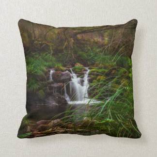 Beautiful Waterfalls Nature Scene Throw Pillow