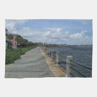 Beautiful Waterfront Walkway Kitchen Towels