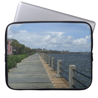 Beautiful Waterfront Walkway Laptop Sleeve