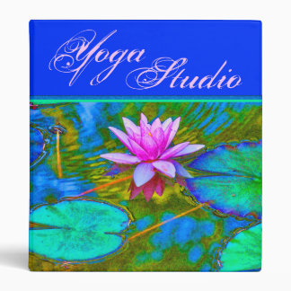 Beautiful Waterlily Lotus for Yoga, Spa 3 Ring Binder