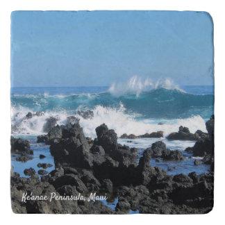 Beautiful Waves in Maui Stone Trivet