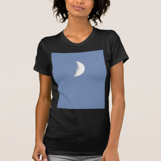Beautiful Waxing Crescent Moon in Daylight Ladies T-shirts