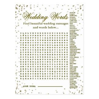 Beautiful Wedding Words Game Postcard