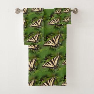 Beautiful Western Tiger Swallowtail Butterflies Bath Towel Set
