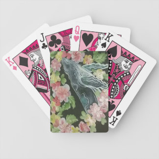 Beautiful whales bicycle playing cards