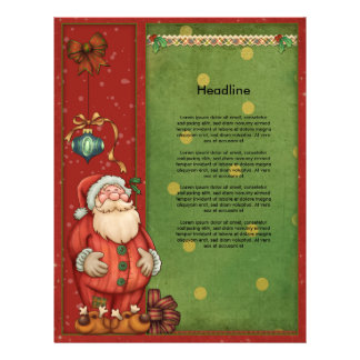 Beautiful, whimsical Christmas design Customized Letterhead