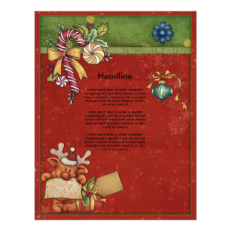 Beautiful, whimsical Christmas design Personalized Letterhead