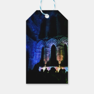 Beautiful Whitby Abbey illuminated ruins Gift Tags