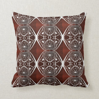 Beautiful White Abstract Pattern Throw Pillow
