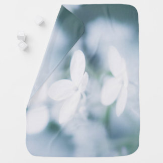 Beautiful white blossoms baby blanket