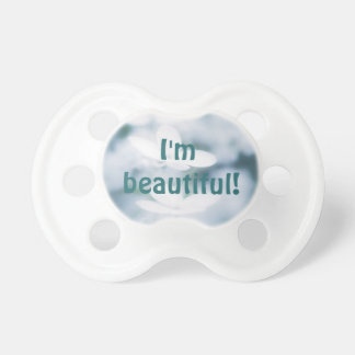 Beautiful white blossoms baby pacifiers