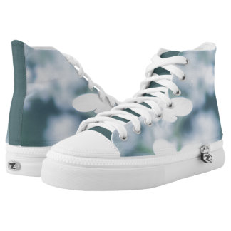 Beautiful white blossoms high tops