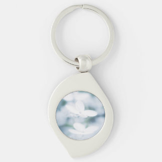 Beautiful white blossoms keychain