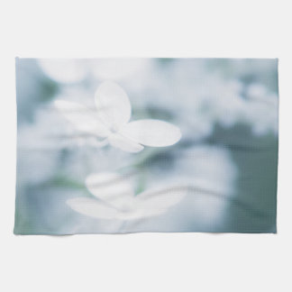 Beautiful white blossoms kitchen towel