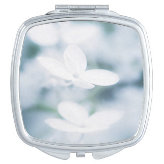 Beautiful white blossoms makeup mirror