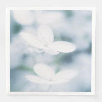 Beautiful white blossoms paper dinner napkin