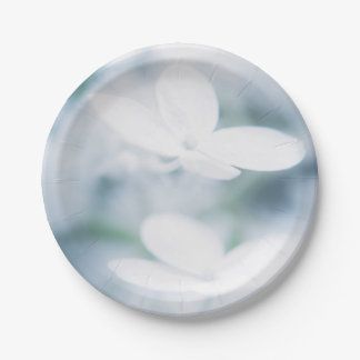 Beautiful white blossoms paper plate
