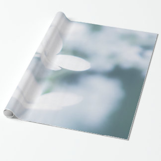 Beautiful white blossoms wrapping paper