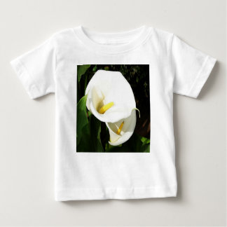 Beautiful White Calla Flowers In Bright Sunlight Baby T-Shirt