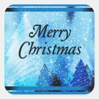 Beautiful White Christmas Square Sticker