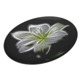 Beautiful White Flower Plate