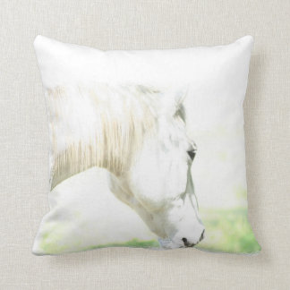 Beautiful White Horse Throw Pillow