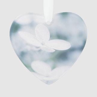 Beautiful white hydrangea blossoms. ornament