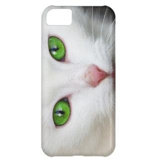Beautiful white kitty cat kitten animal lover iPhone 5C cases