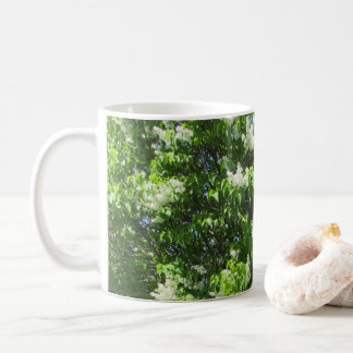 Beautiful White Lilacs Flowers Coffee Mug