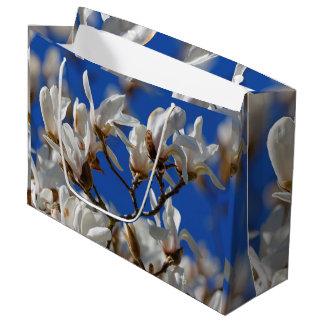 Beautiful White Magnolia Sargentiana Flowers Large Gift Bag