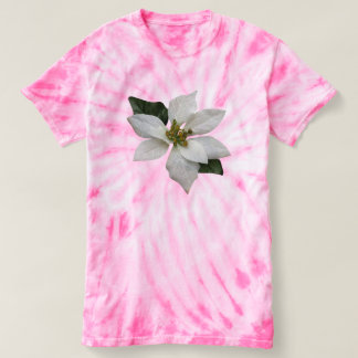Beautiful White Poinsettia Christmas Flower T-shirt