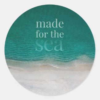 Beautiful White Sandy Beach Classic Round Sticker