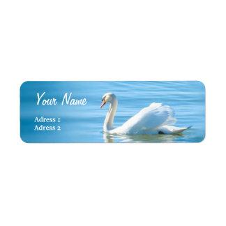 Beautiful White Swan - Address Label