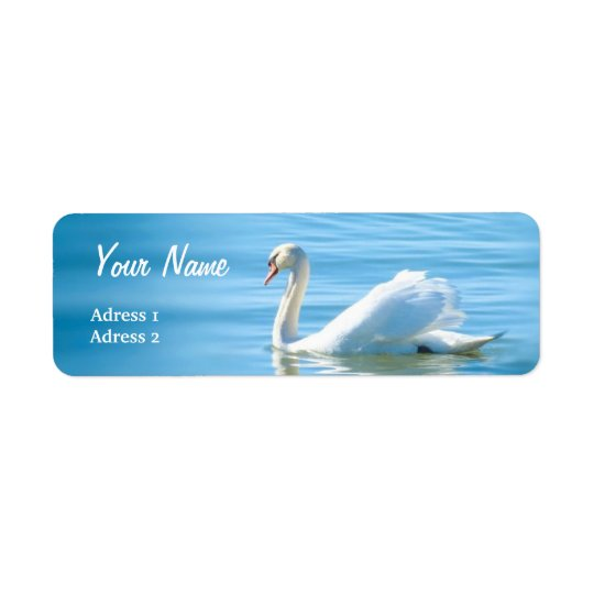Beautiful White Swan - Address Label