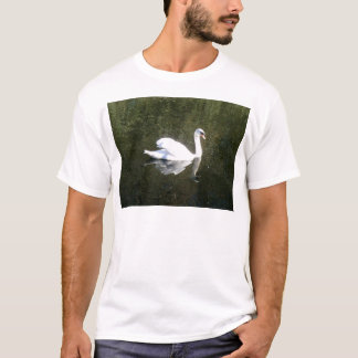 Beautiful White Swan Reflecting On The River T-Shirt