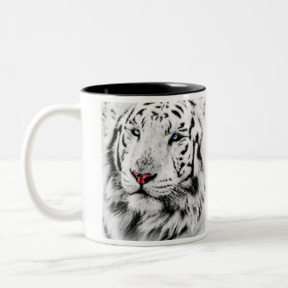 Beautiful White Tiger Portrait Mug