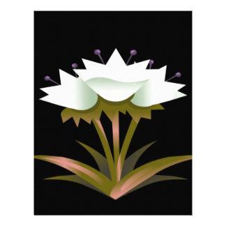 Beautiful White Tulips Custom Letterhead