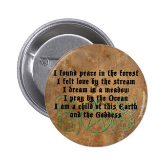 Beautiful Wiccan Poem 2 Inch Round Button