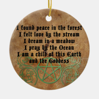 Beautiful Wiccan Poem Ceramic Ornament