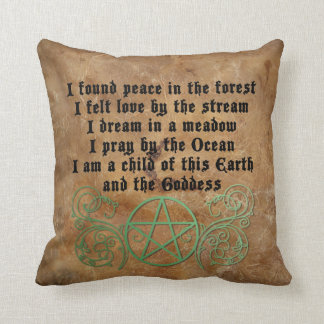 Beautiful Wiccan poem Throw Pillow