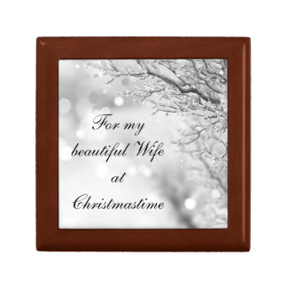 Beautiful Wife at Christmastime Gift Box