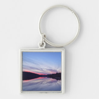 Beautiful Wilderness Sunset over Lake Photo Keychain